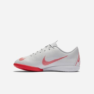 Chlapcenske Kopačky Nike Jr. MercurialX Vapor XII Academy Just Do It IC Siva / Platina / Metal Strie